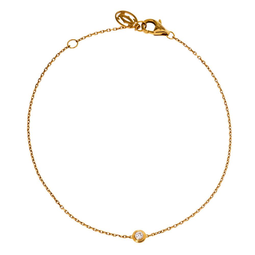 Cartier Diamants Legers De Cartier Diamond 18K Yellow Gold Bracelet XS