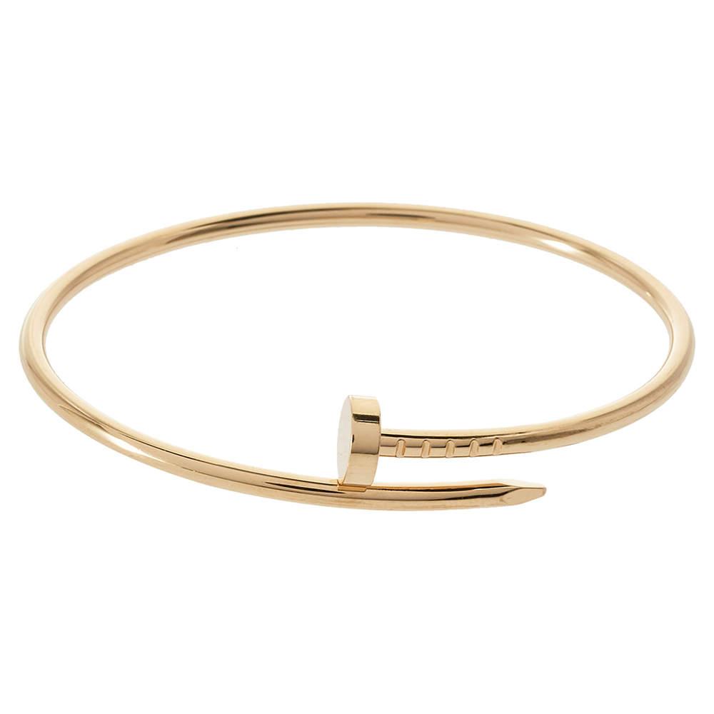 Cartier Juste Un Clou 18K Yellow Gold SM Bracelet 16