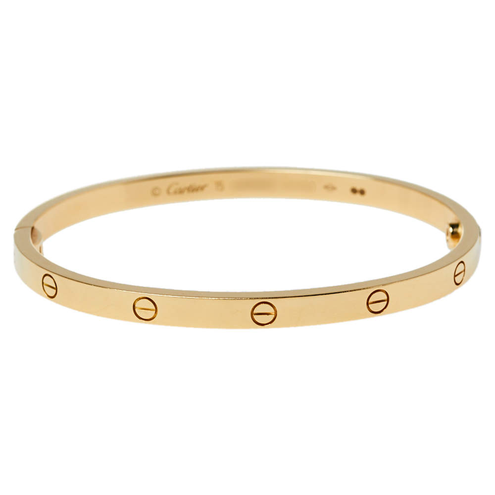 Cartier Love 18K Yellow Gold Bracelet SM 15