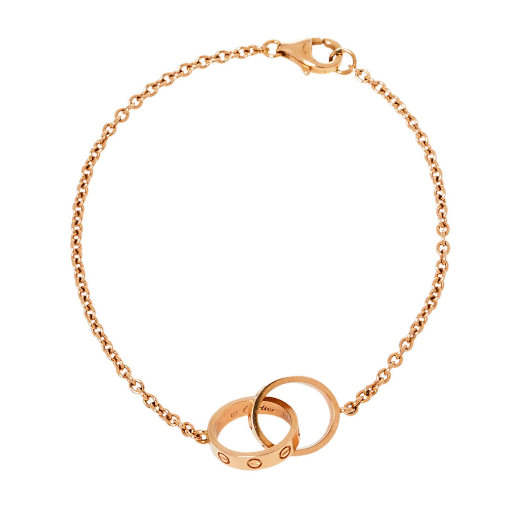 Cartier Love Screw Motif 18K Rose Gold Bracelet
