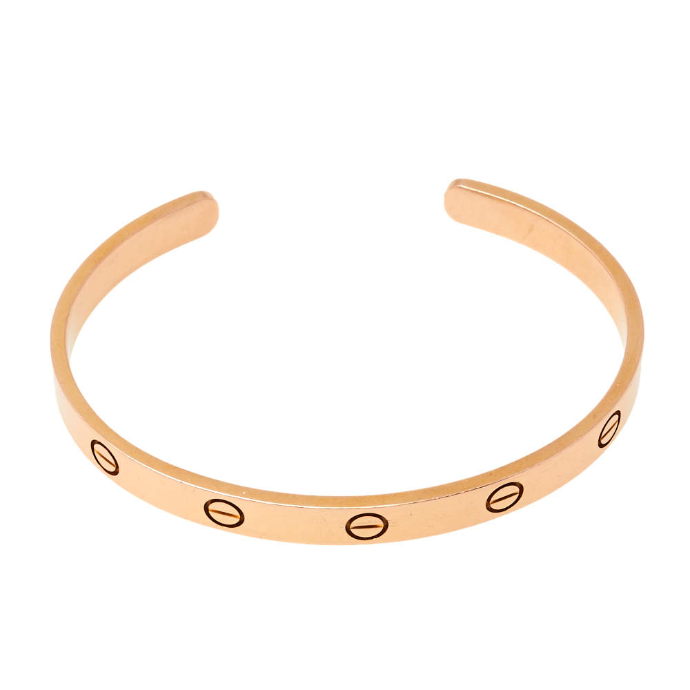 Cartier Love 18K Rose Gold Open Cuff Bracelet 18