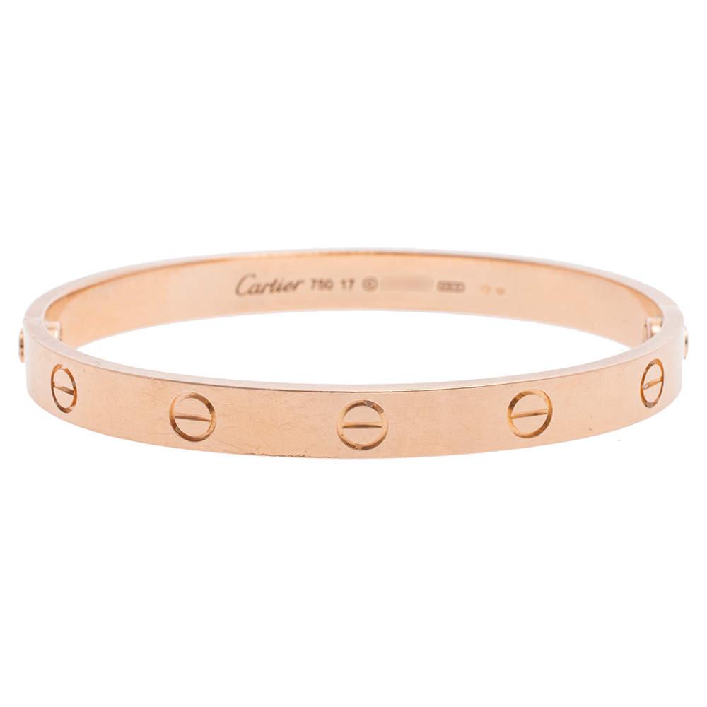 Cartier Love 18K Rose Gold Bracelet 17