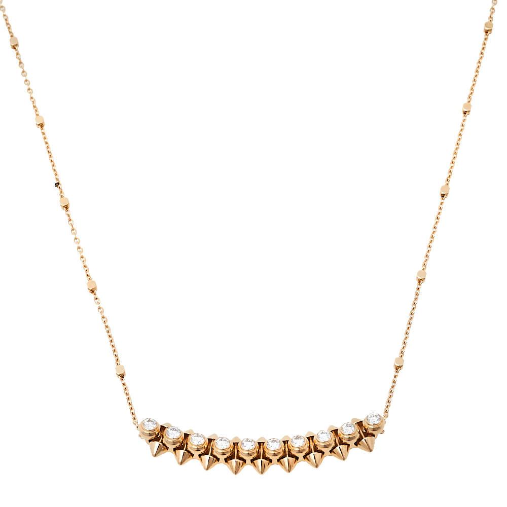 Cartier Clash de Cartier Diamond 18K Rose Gold Necklace