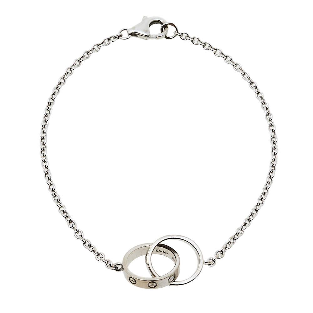 Cartier Love Screw Motif 18K White Gold Bracelet