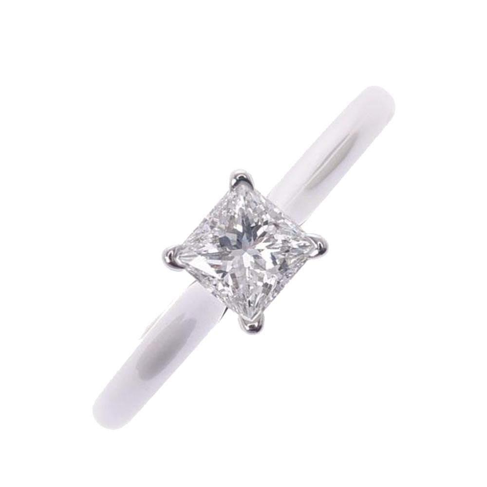 Cartier 1895 Solitaire Platinum Diamond Ring Size EU 50