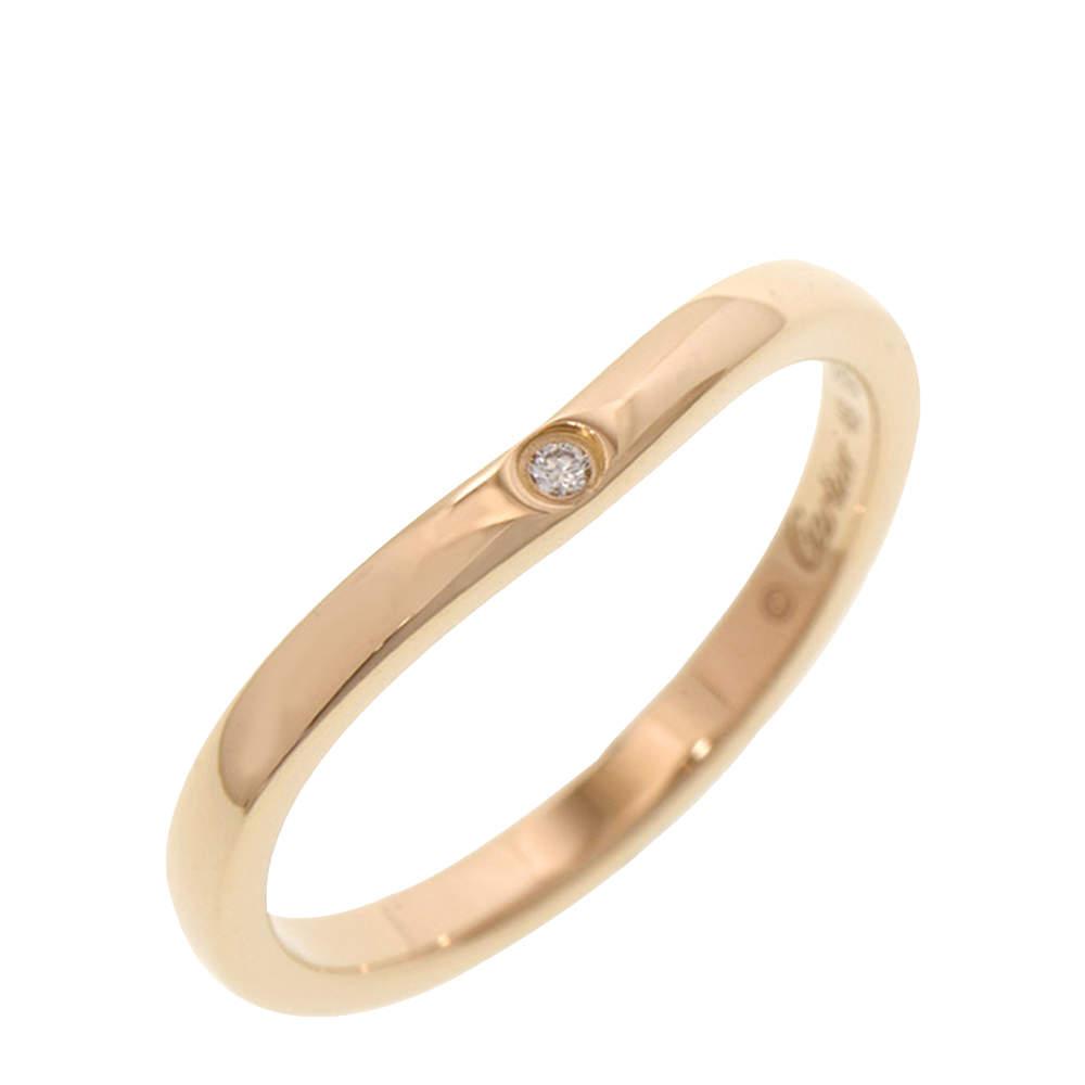 Cartier Ballerina Curve 18K Rose Gold Ring Size EU 49