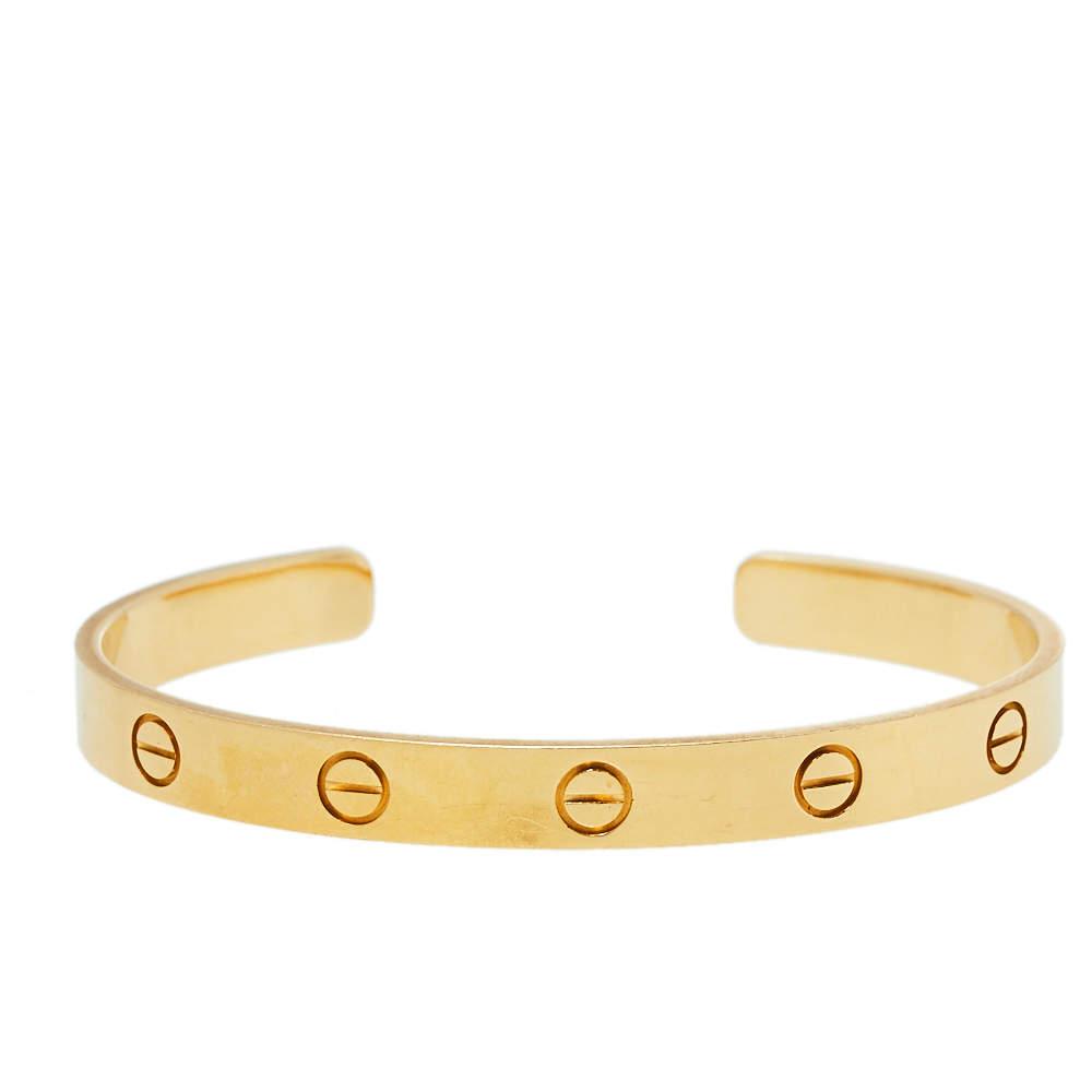 Cartier Love 18K Yellow Gold Open Bracelet 17