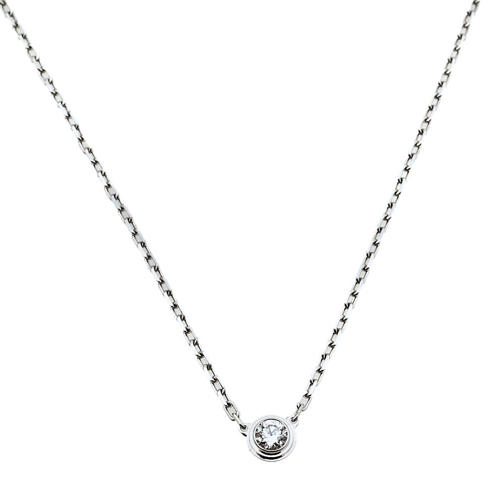 Cartier Diamants Legers Diamond 18K White Gold Necklace SM