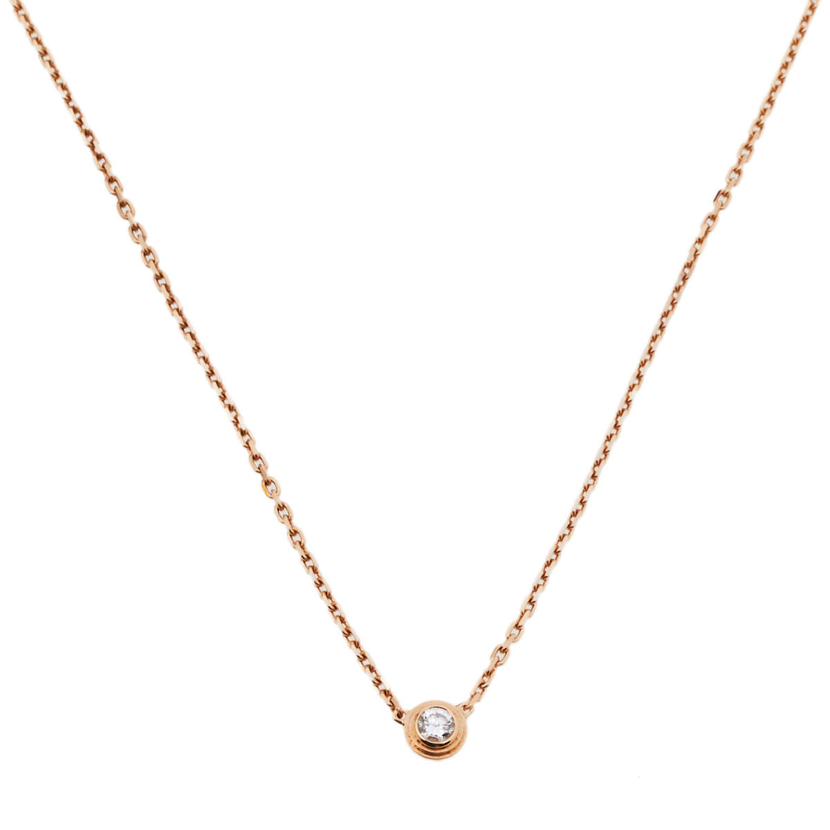 Cartier Diamants Légers Diamond 18K Rose Gold Necklace XS
