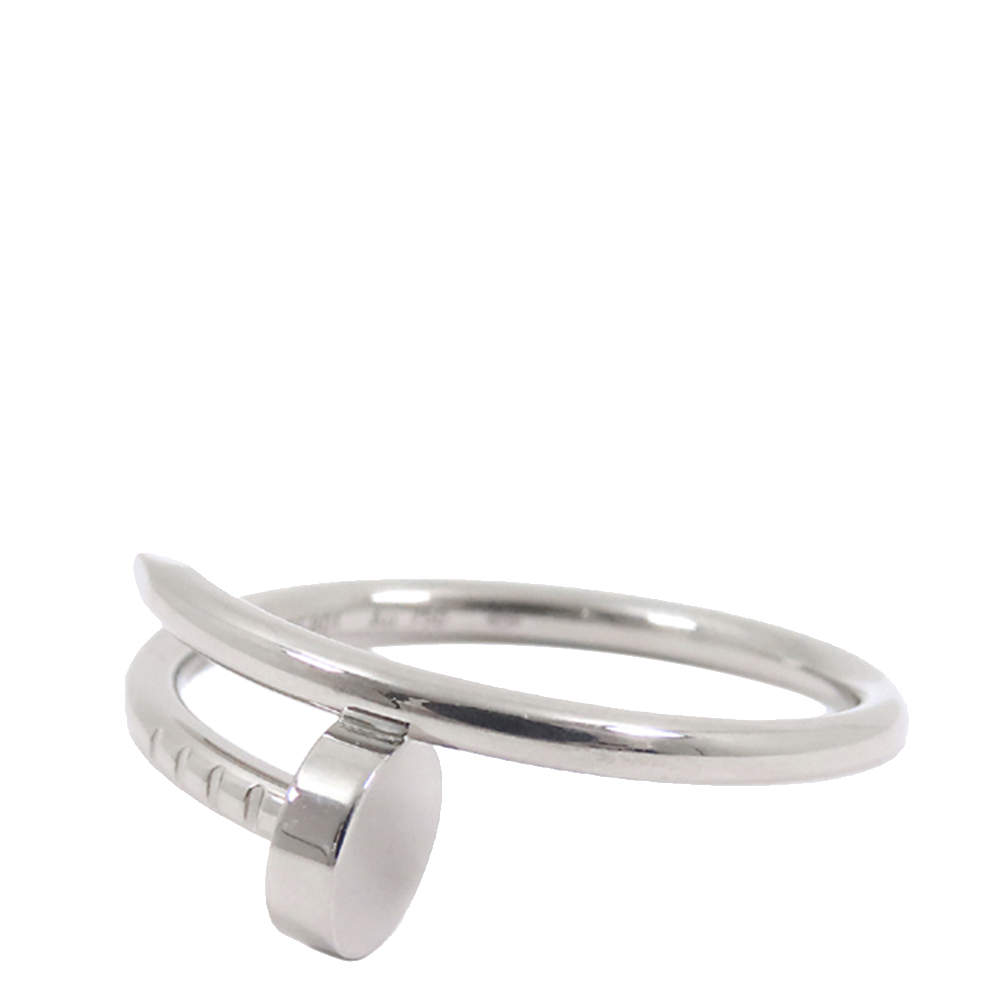 Cartier Juste Un Clou 18K White Gold Ring Size EU 56