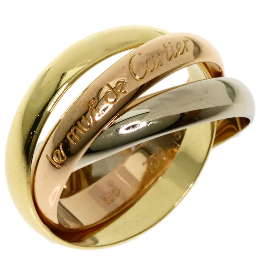 Cartier 18K Yellow Gold, Rose Gold, White Gold Le Must de Cartier Trinity Ring Size 52