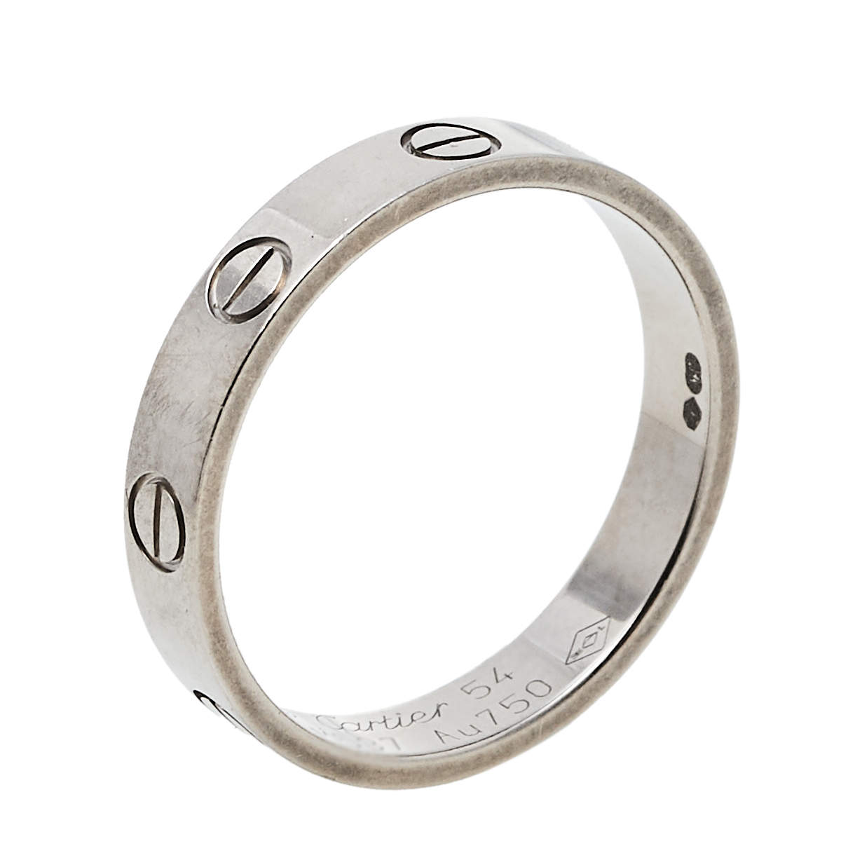 Cartier Love 18K White Gold Wedding Band Ring Size 54