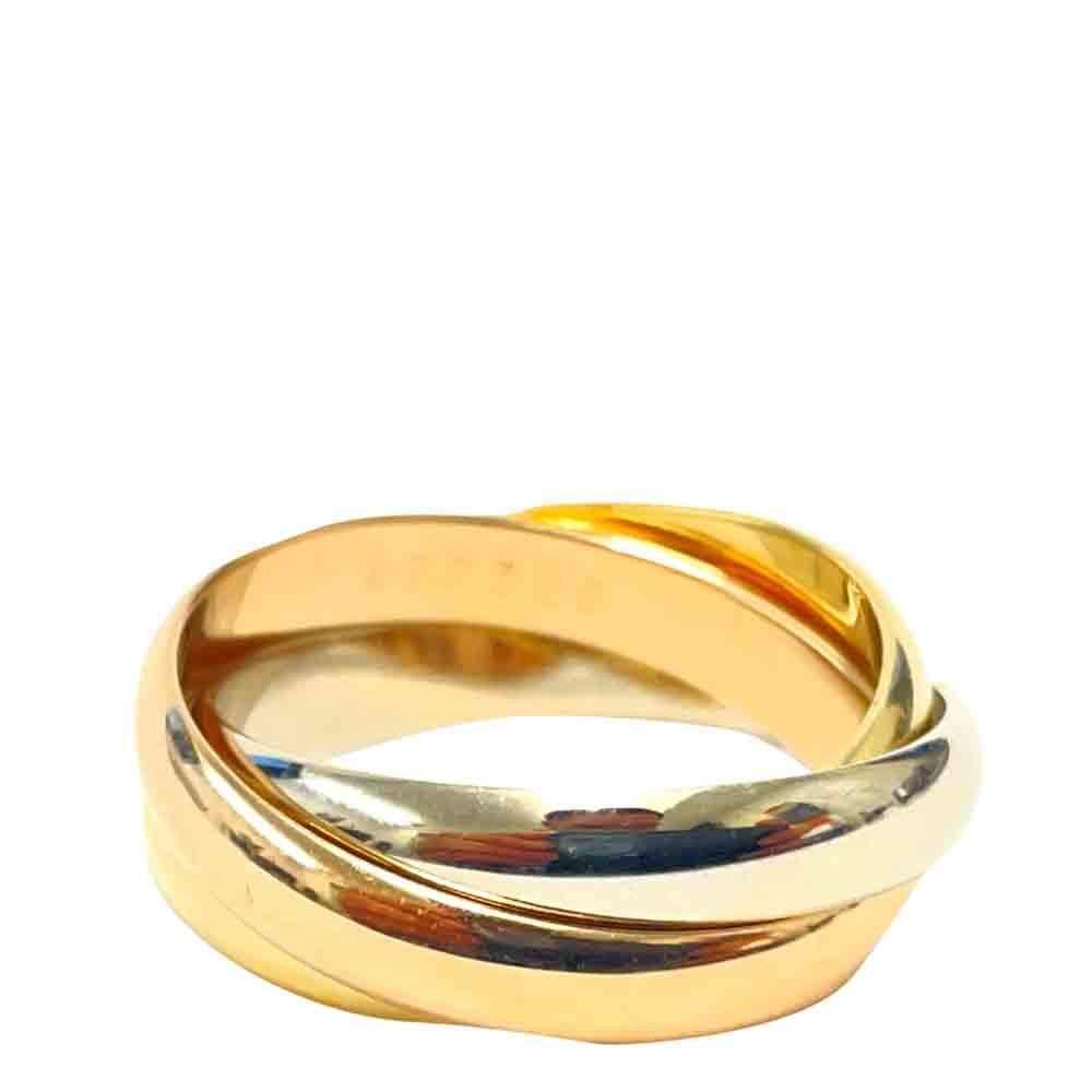 Cartier Le Must De Cartier Trinity 18K Yellow White Rose Gold Ring Size EU 53