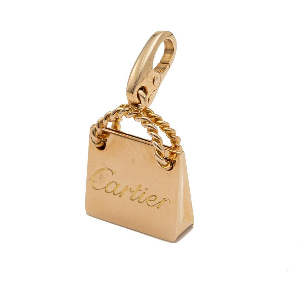 Cartier Rose Gold Shopping Bag Charm
