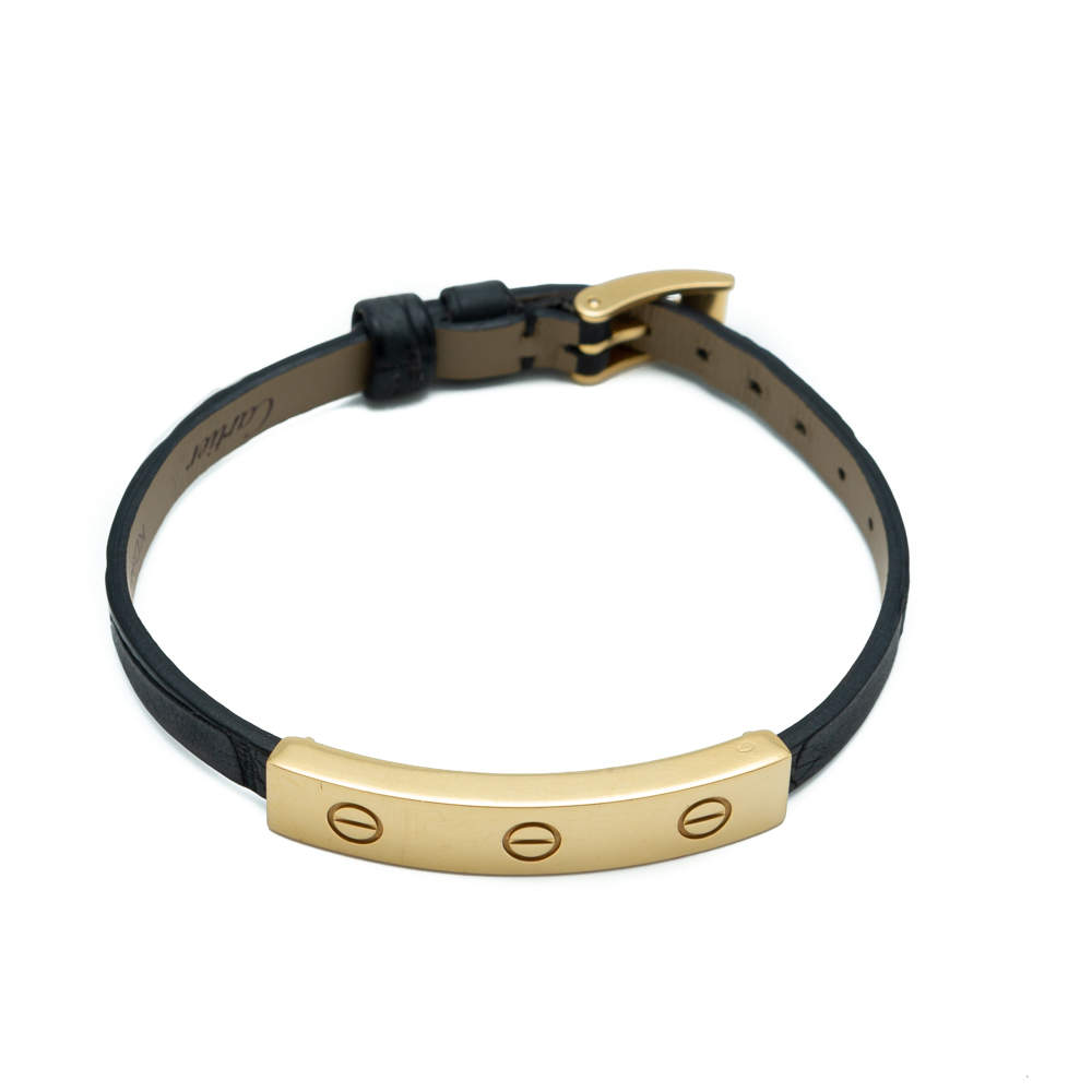 Cartier Love Yellow Gold Leather Bracelet
