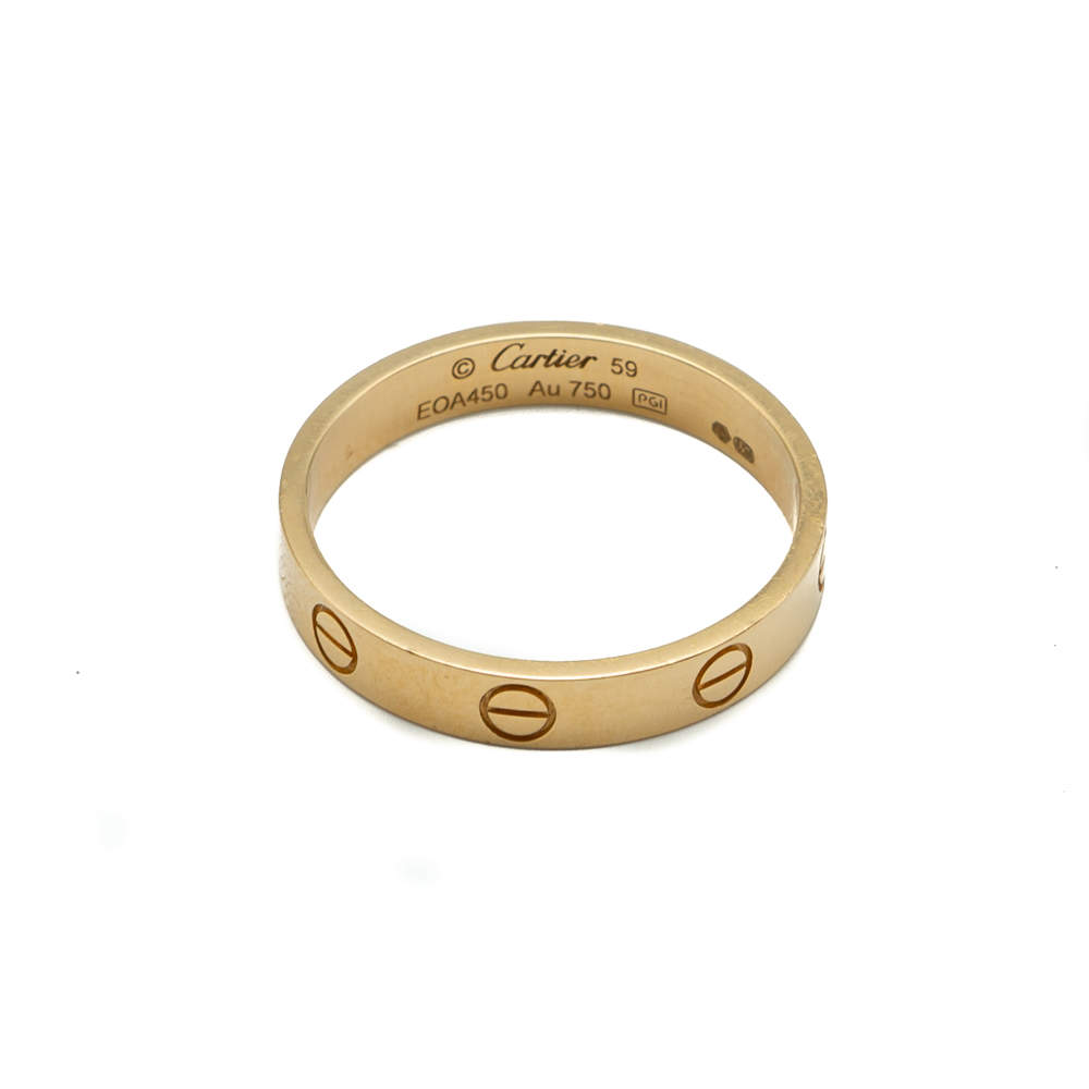 Cartier Love Yellow Gold Wedding Ring Size 59