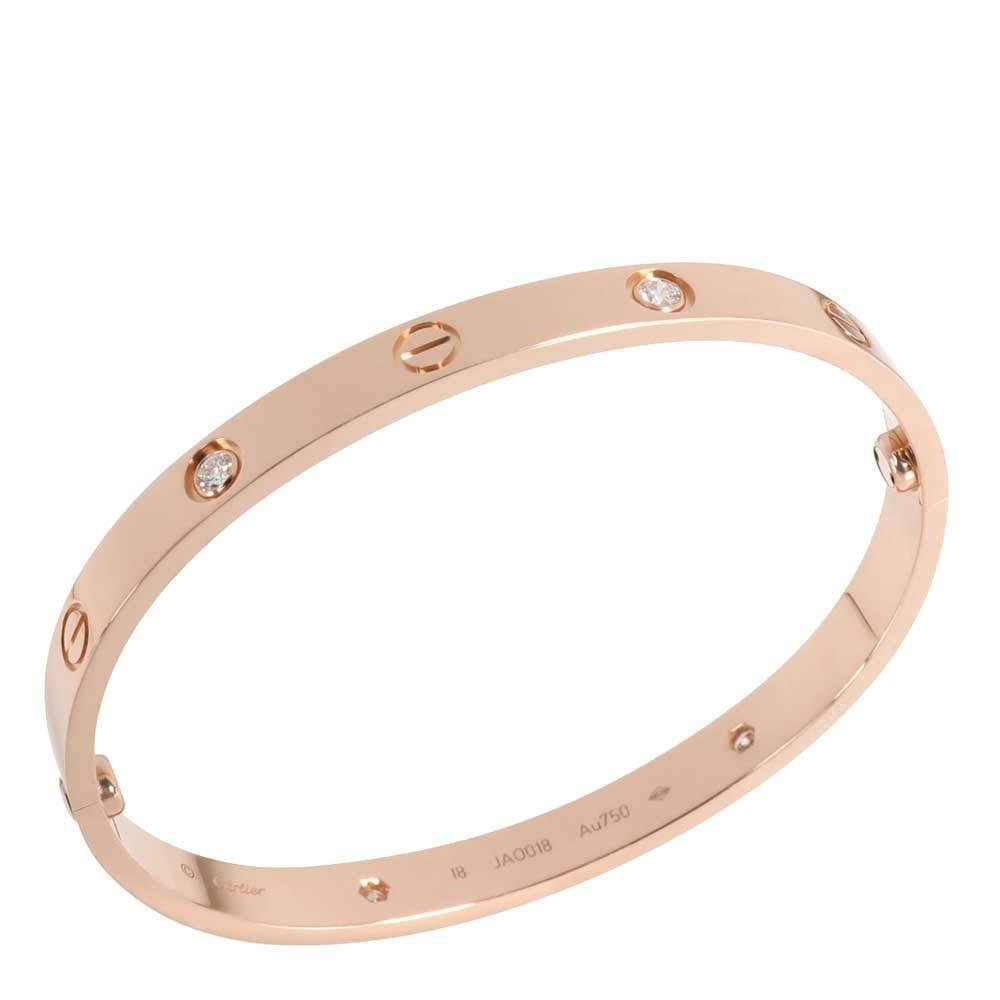 Cartier 18K Rose Gold 0.4 CTW Diamond Love Bangle