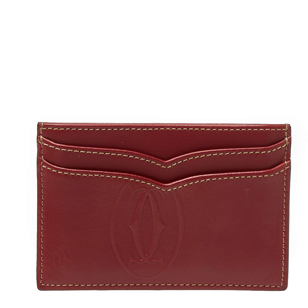 Cartier Red Leather Card Holder