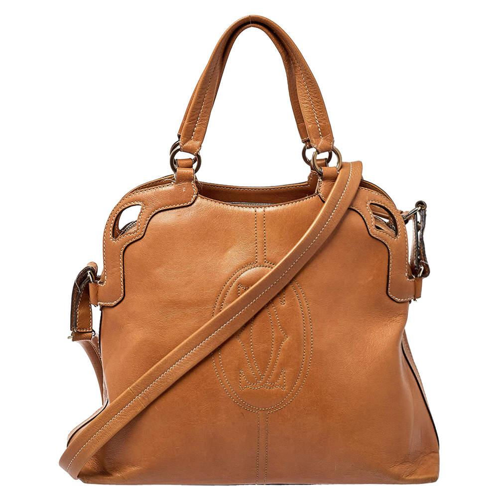 Cartier Brown Leather Marcello de Cartier Satchel
