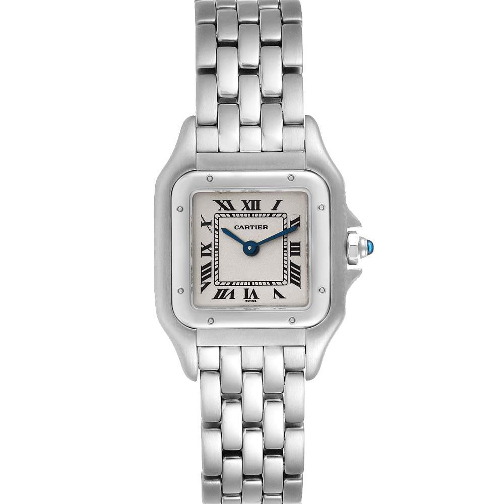 Cartier Silver Stainless Steel Panthere W25033P5 Women's Wristwatch 22 MM