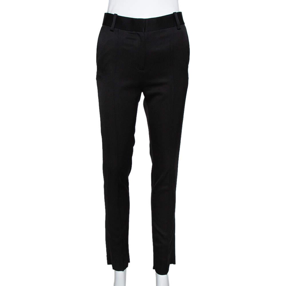 Celine Black Wool Tailored Trousers S