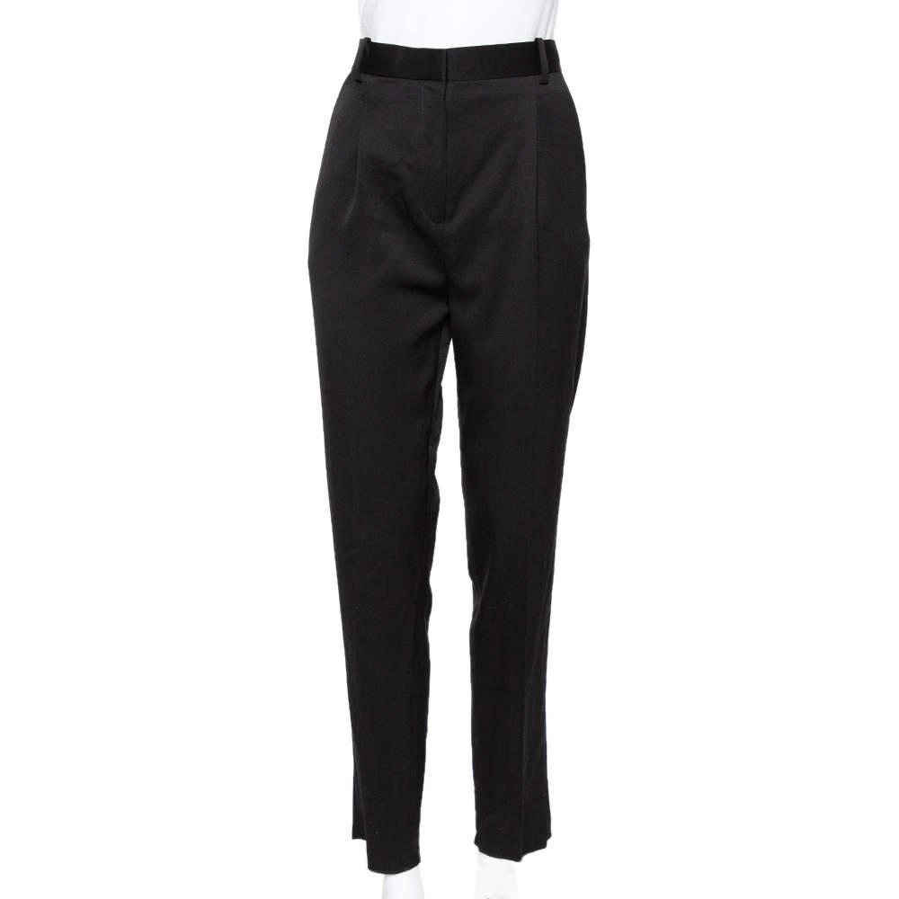 Celine Black Wool Tapered Leg Pants S