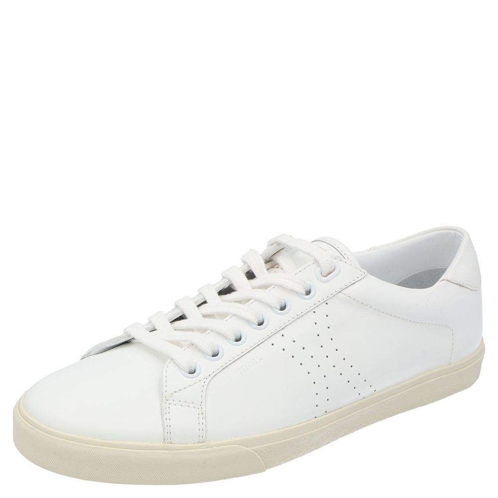 Celine White Triomphe Low Top Sneakers  Size EU 38