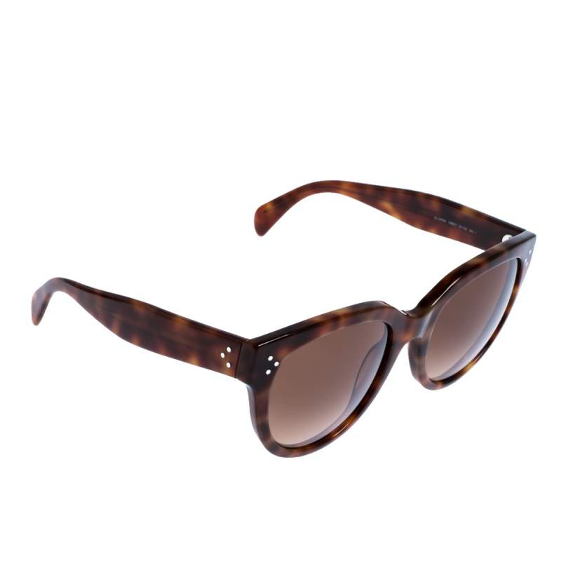 Celine Brown Tortoise Gradient CL 41755 Oversize Sunglasses