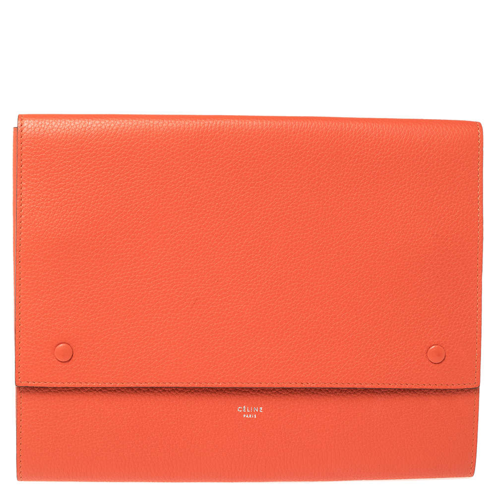 Celine Orange Leather iPad Cover