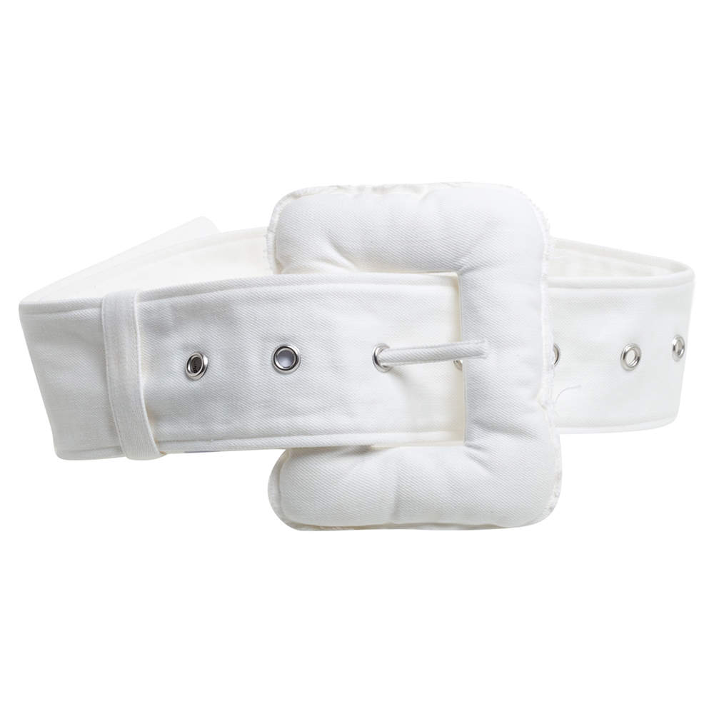 Céline White Denim Oversized Belt S