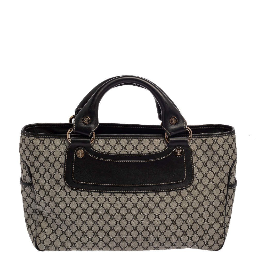 Celine Black/Grey Macadam Canvas And Leather Boogie Tote