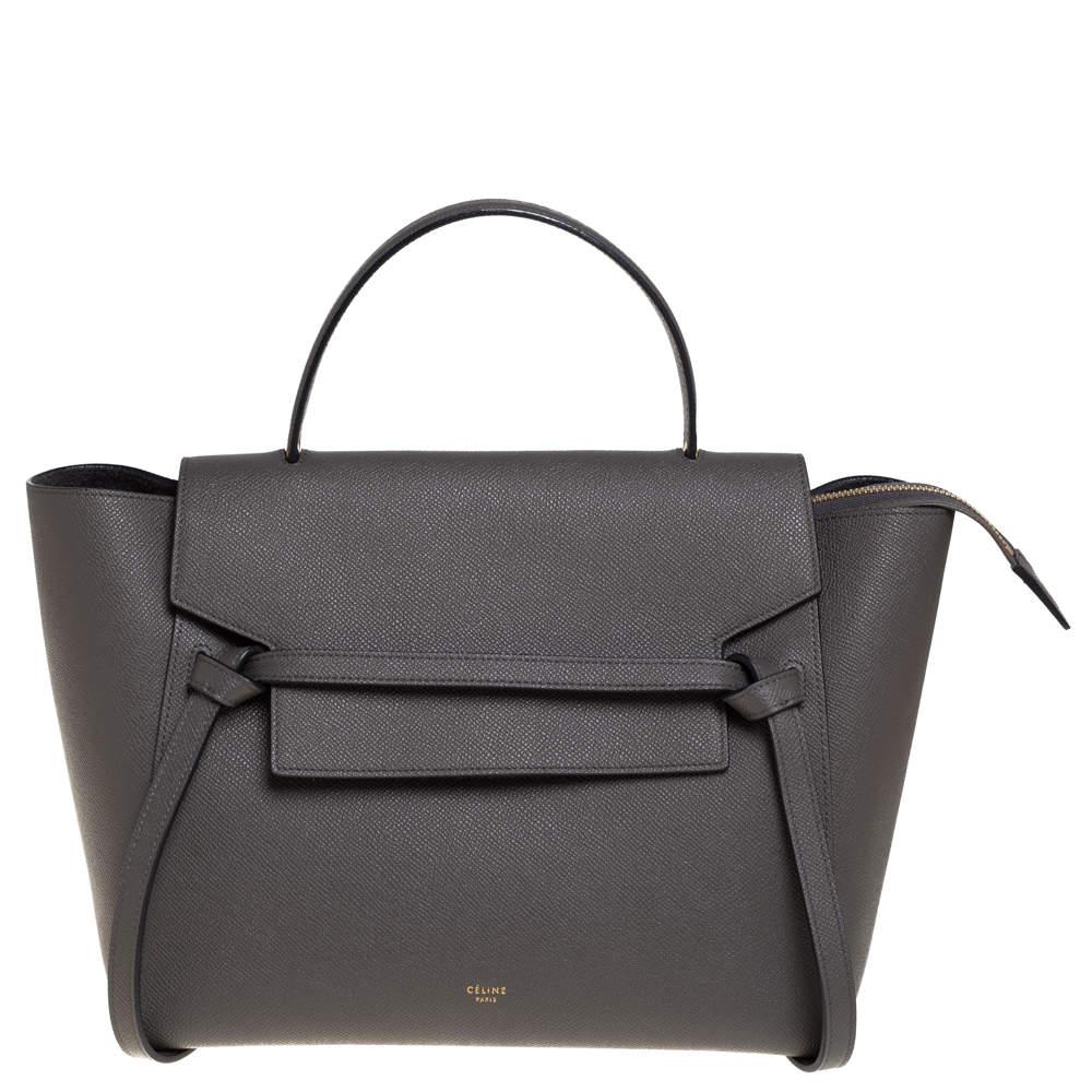 Celine Grey Leather Mini Belt Top Handle Bag