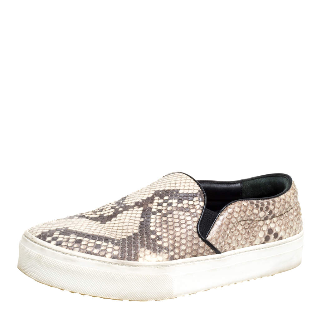 Celine Brown Python Slip On Sneakers Size 38