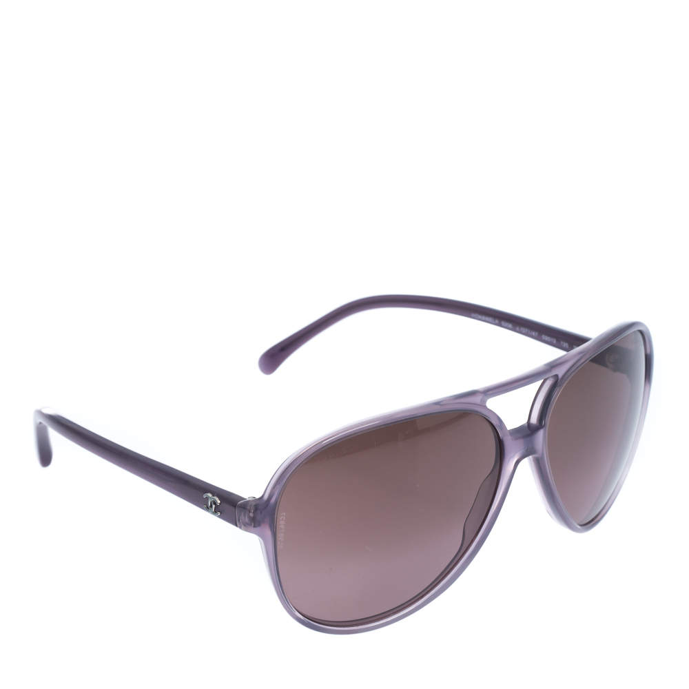 Chanel Dark Grey Gradient 5206 Aviator Sunglasses
