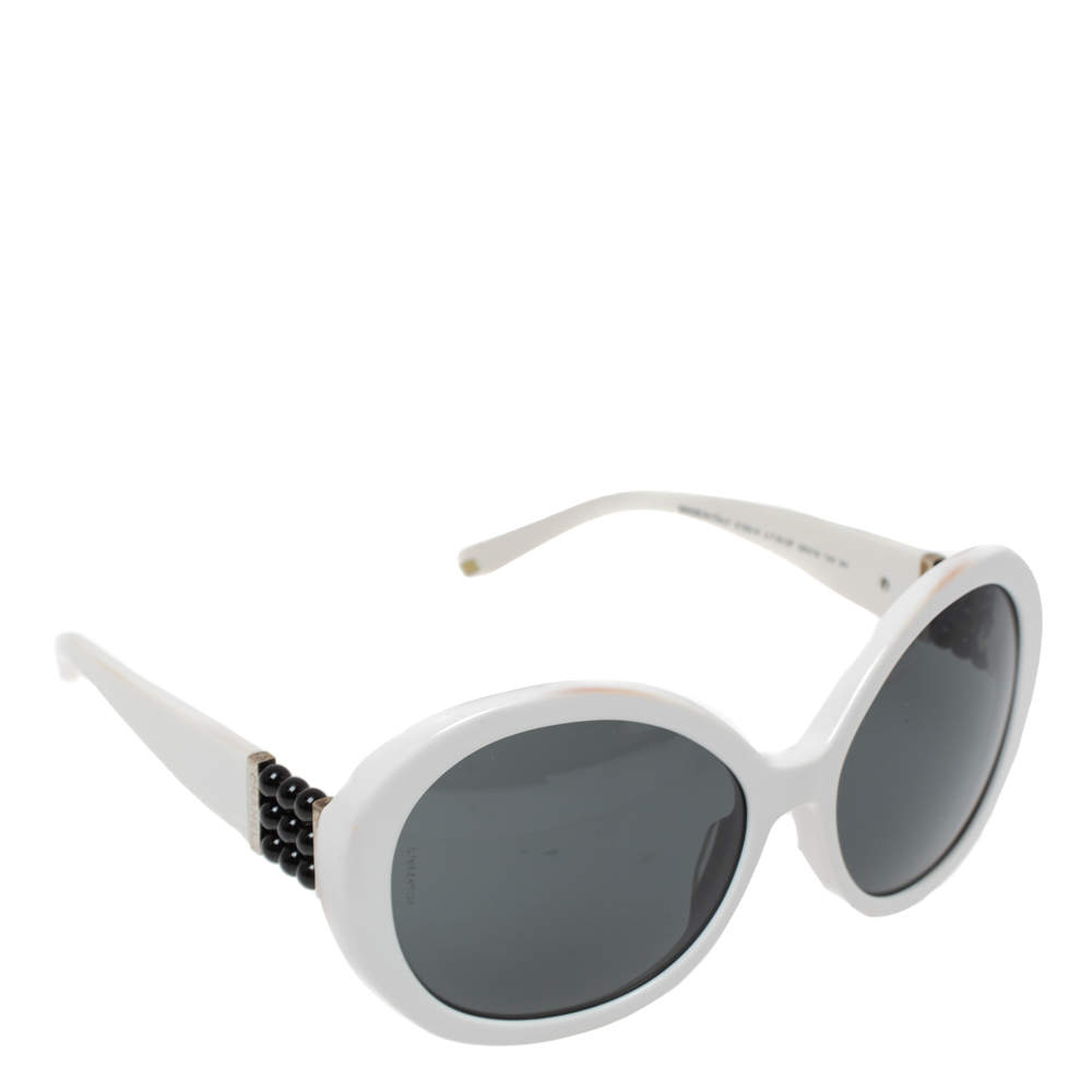 Chanel White / Grey 5159-H Pearle Round Sunglasses