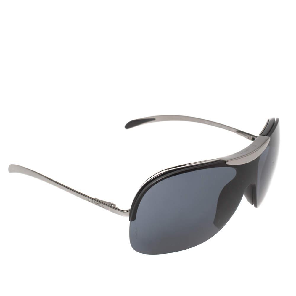 نظارة شمسية شانيل 6007 شيلد أزرق بترولي و أسود مقاس صغير (سمول)