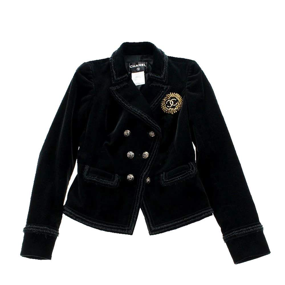 Chanel Black Double Breasted Jacket S