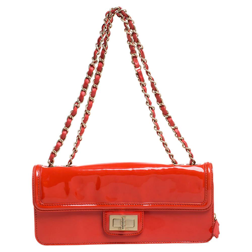 Chanel Orange Patent Leather Reissue Flap Bag