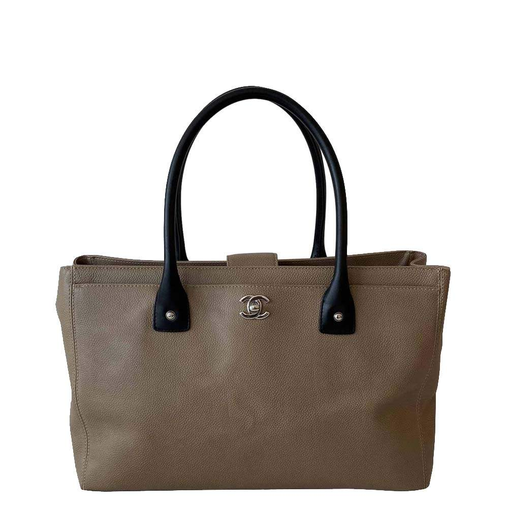 Chanel Brown Leather Executive Cerf Tote Bag