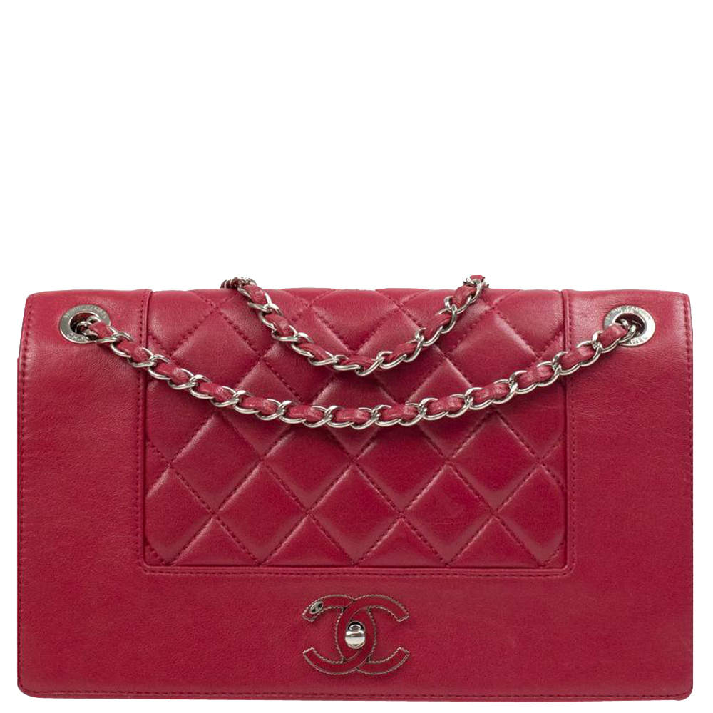 Chanel Red Leather Mademoiselle Flap Bag