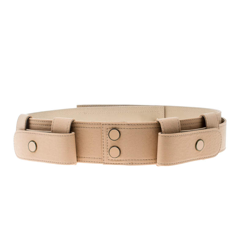 Chloe Light Brown Fabric Waist Belt 83 CM