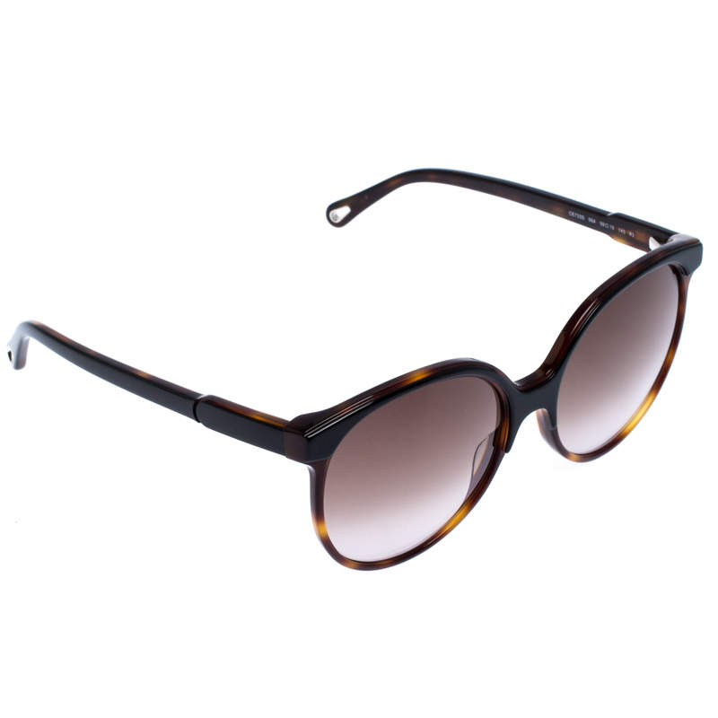 Chloe Brown Tortoise Gradient Quilly Oversize Sunglasses