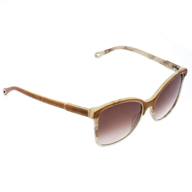 Chloe Brown Marble Gradient CE734S Square Sunglasses