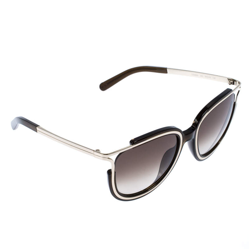 Chloe Gold/Brown Gradient CE688S Square Sunglasses