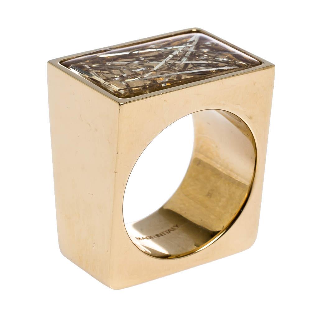 خاتم كوكتيل كلوي بيتينا ريزن ذهبي اللون مقاس EU 56