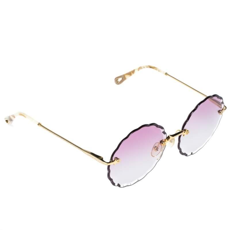 Chloe Gold /Pink Gradient CE142S Rosie Flower Sunglasses