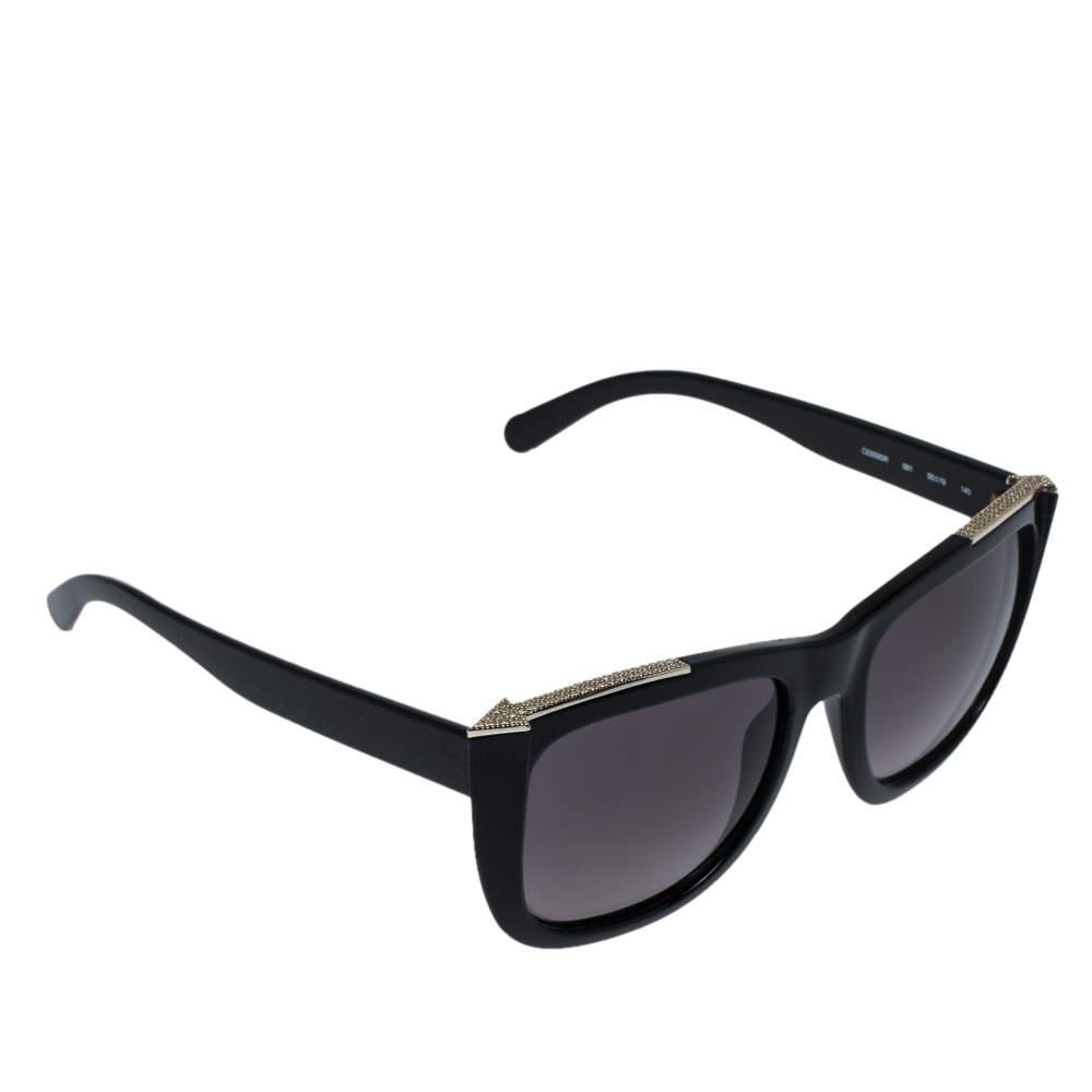 Chloé Black & Crystal Embellished / Dark Grey Gradient CE659SR Square Sunglasses