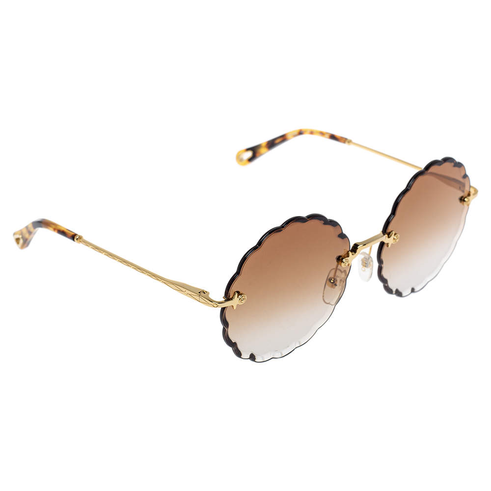 Chloe Brown Gradient CE142S Scalloped Sunglasses