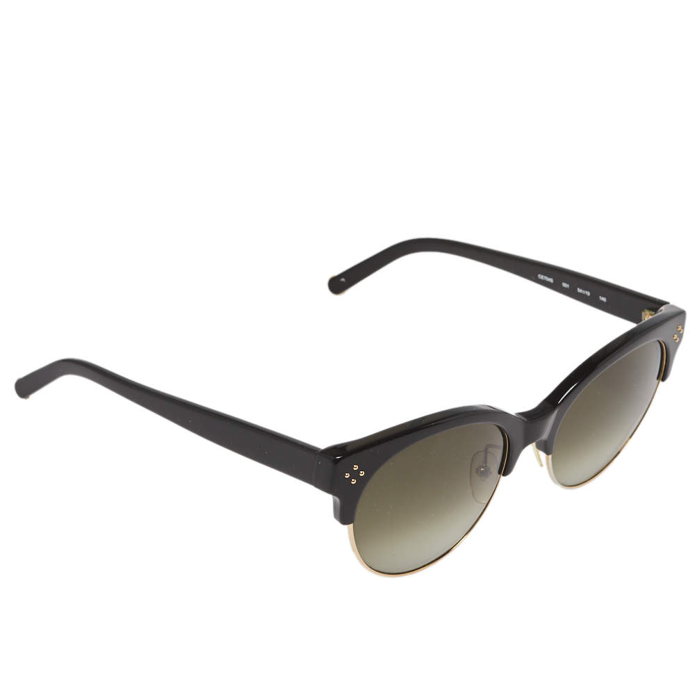 Chloe Black/Green Gradient CE704S Boxwood Clubmaster Sunglasses