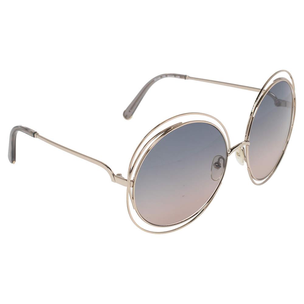 Chloé Pale Gold Tone/ Bicolor Gradient CE119S Carlina Oversized Sunglasses